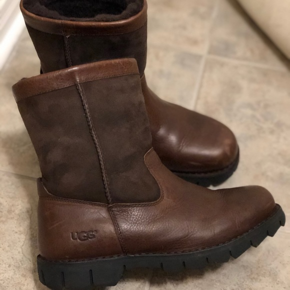 UGG Other - Men's brown leather UGG boots size 10 (US)